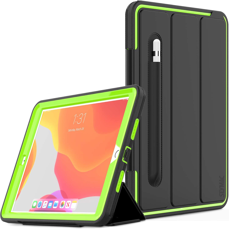 Funda SEYMAC para iPad 10.2 2019/2020 (Negro/Verde)