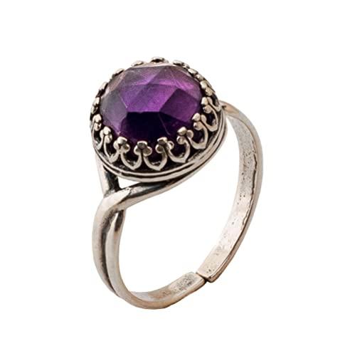 Amethyst Silver Ring Natural Amethyst Gemstone 925 Sterling Silver Ring Handmade Silver Jewelry Solitaire Ring Gift For Her