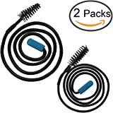 Zelta Flexible Sink Clog Removal Brush Pulling Up and Down, Disposable Drain Unclog Tool, Pack of 2