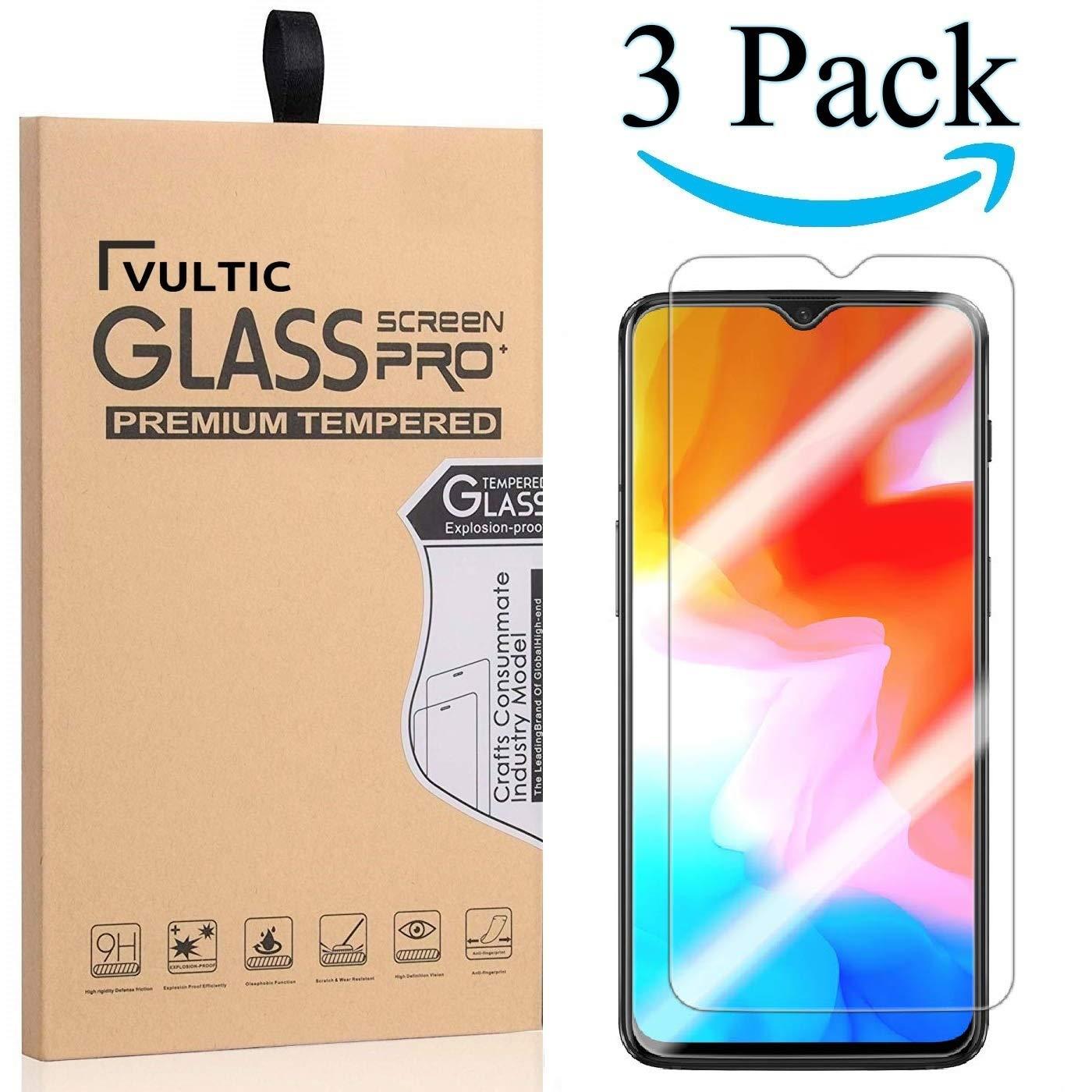 Vultic OnePlus 6Tスクリーンプロテクター強化ガラス[ケースに優しい] OnePlus 6T用フィルムカバー[3パック]   B07NB7WNVB