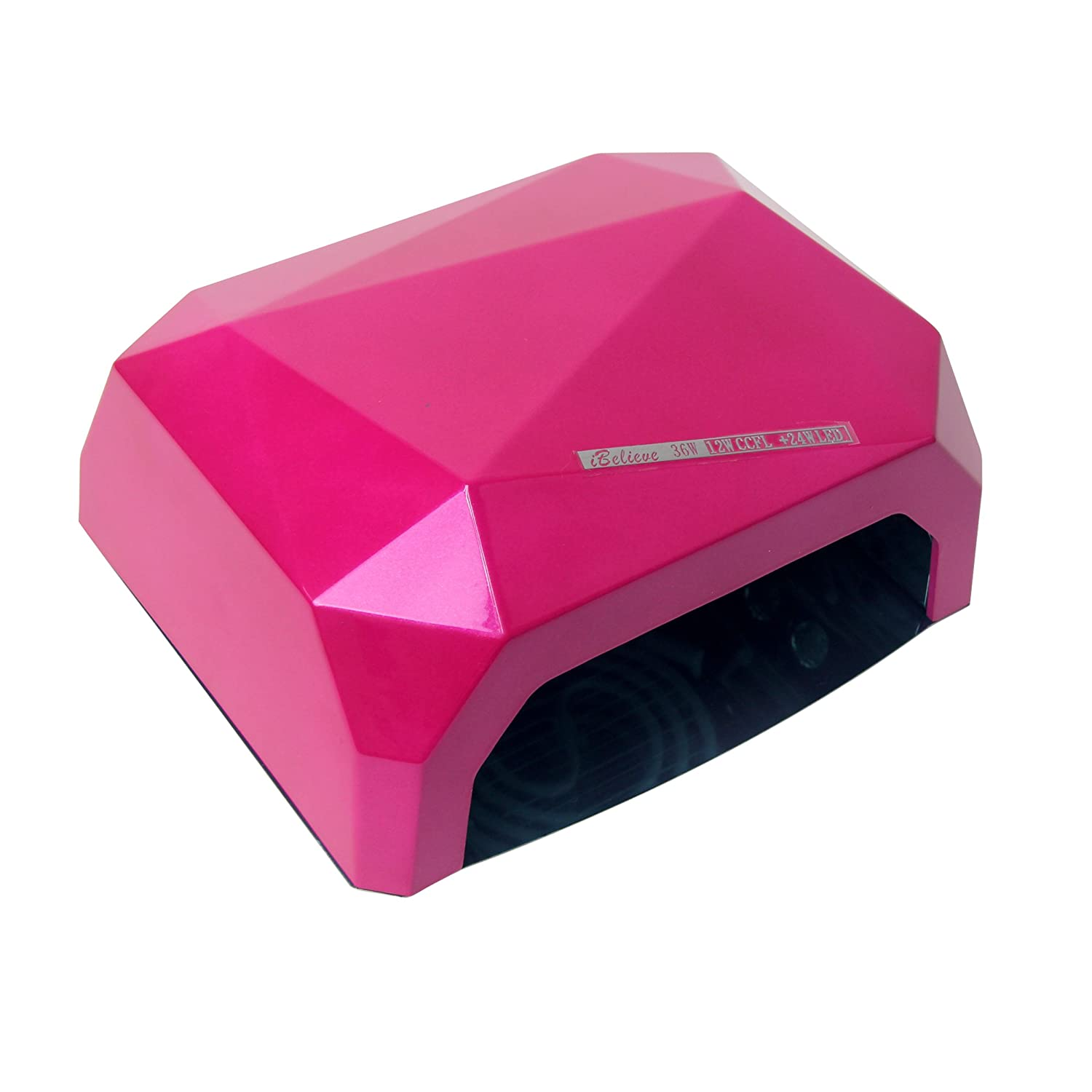 Signstek 36W LED UV Nail Dryer Gel Curing Lamp, 30S 60S 90S Fast Dry, for Home Use or Salon (Rose Red)