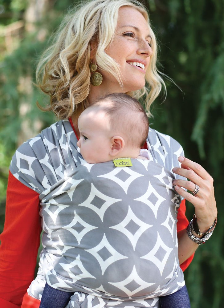 Boba Wrap Baby Carrier Original Stretchy Infant Sling Hali Perfect for Newborn Babies and Children up to 35 lbs