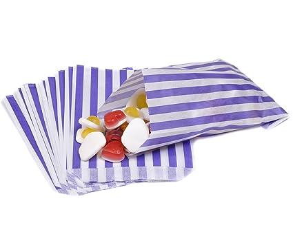 Bolsas de papel con estampado de rayas para caramelos, bodas ...