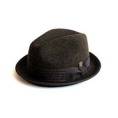 0da2014fe831c Dasmarca Mens Crushable   Packable Wool Felt Trilby Hat - Albert Brown S