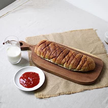 Rectangular Pizza Pallet House Western Steak Pan Bandeja De Pan Caf/é Postre Cake Pan Tajadera con Mango 23.5 22CM WOODEN LIFE Tabla De Cortar De Madera