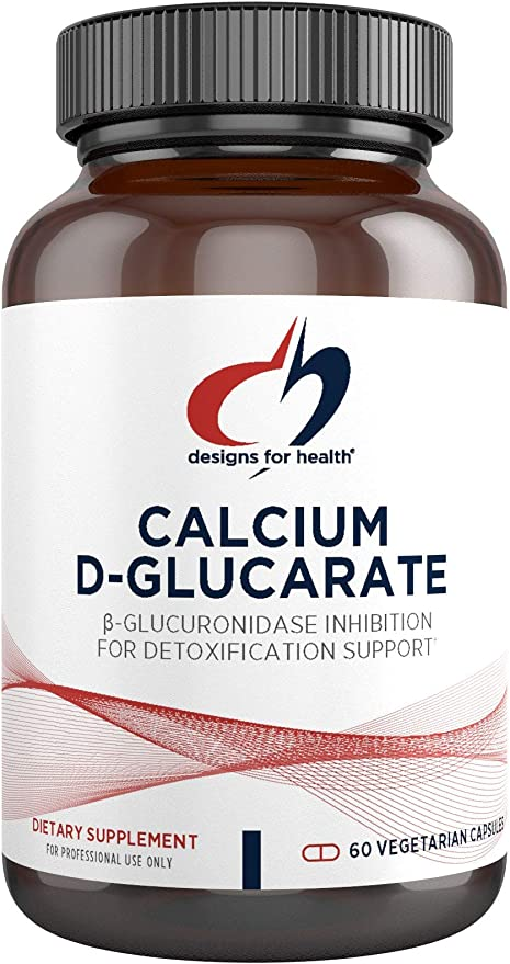 Designs for Health Calcium D-Glucarate - 1200mg CDG for Liver Support - Detoxification + Healthy Hormone Metabolism Support Supplement for Men + Women - Non-GMO, Soy-Free (60 Capsules)
