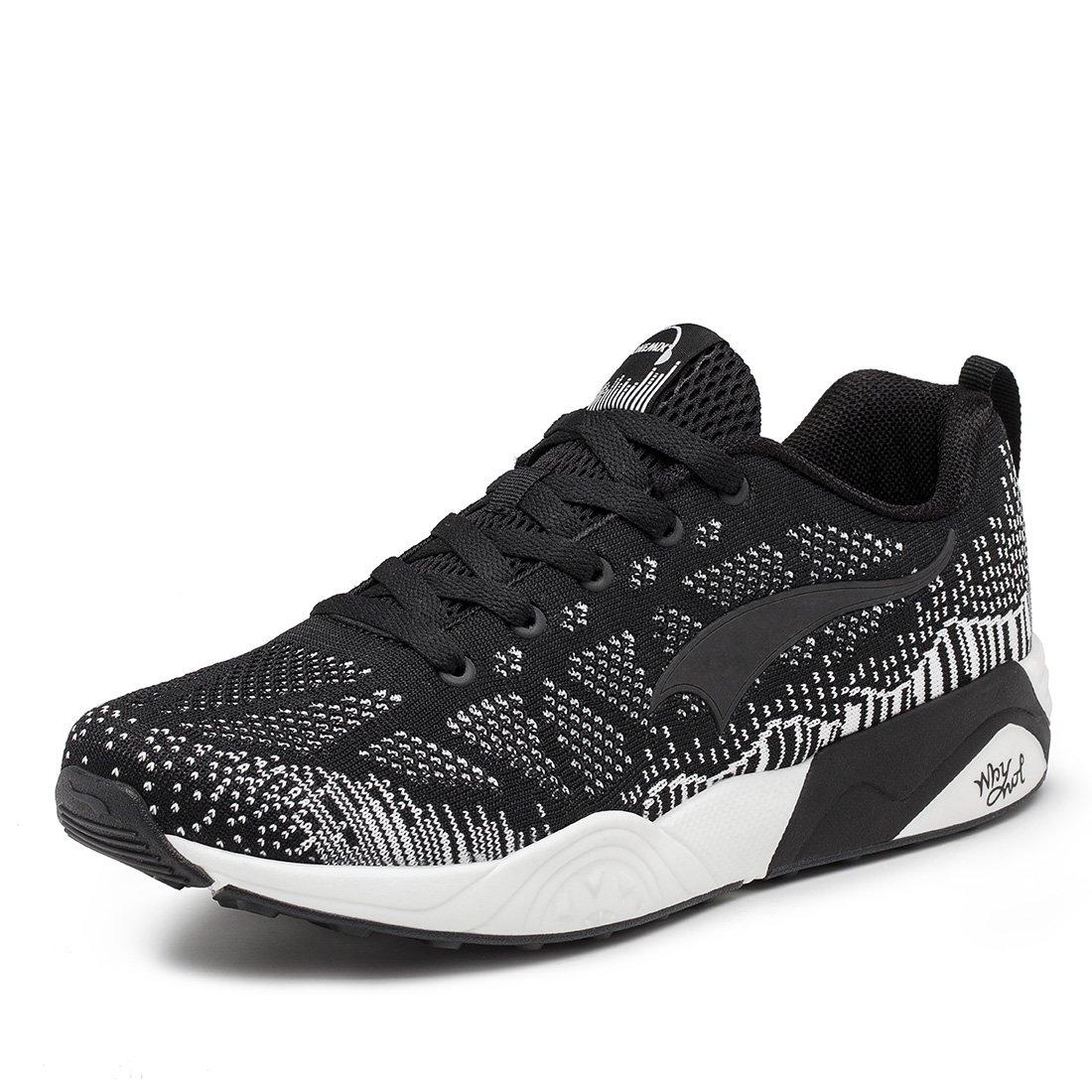 ONEMIX Men\'s Knit Pattern Sports Running Shoes Lightweight Women\'s Fashion Mesh Sneakers