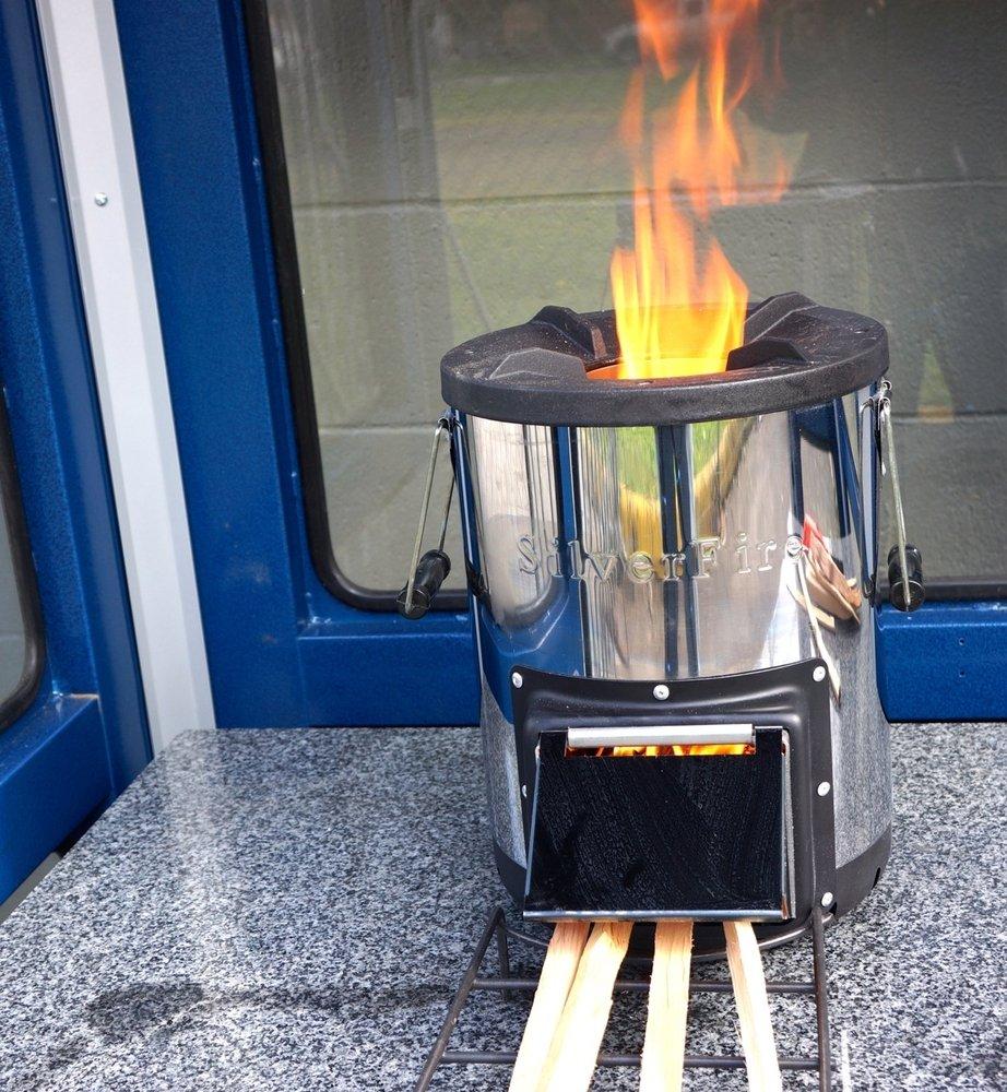 amazon com silverfire survivor rocket stove camping stoves