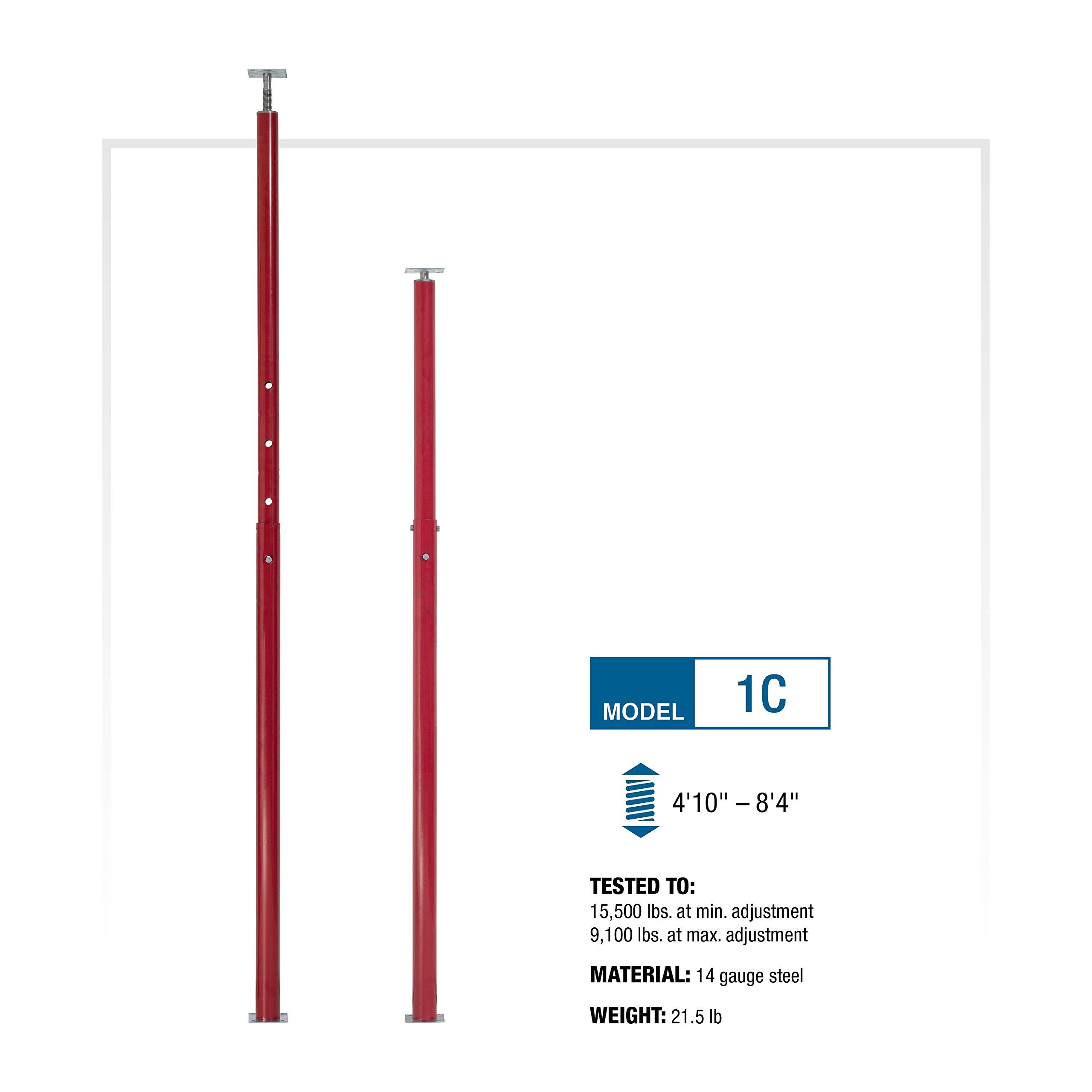 CoreLine Mfg Adjustable Jack Post — 4ft. 10in.–8ft. 4in. Adjustable Length, Model# 1C