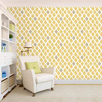 100yellow Triangle Pattern Yellow Colour Self Adhesive Peel Stick Wallpaper 26 7 Sqft