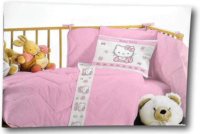 juego de sábanas cuna cuna Hello Kitty Algodón: Amazon.es: Bebé