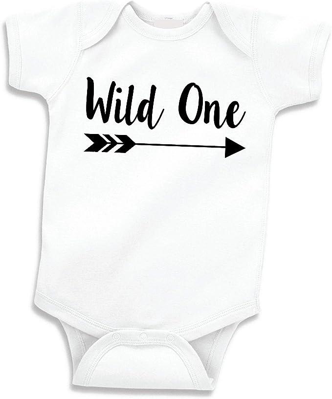 Amazon.com: Baby Boy Camisa de cumpleaños, Wild One para ...