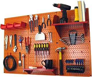 product image for Pegboard Organizer Wall Control 4 ft. Metal Pegboard Standard Tool Storage Kit with Orange Toolboard and Red Accessories