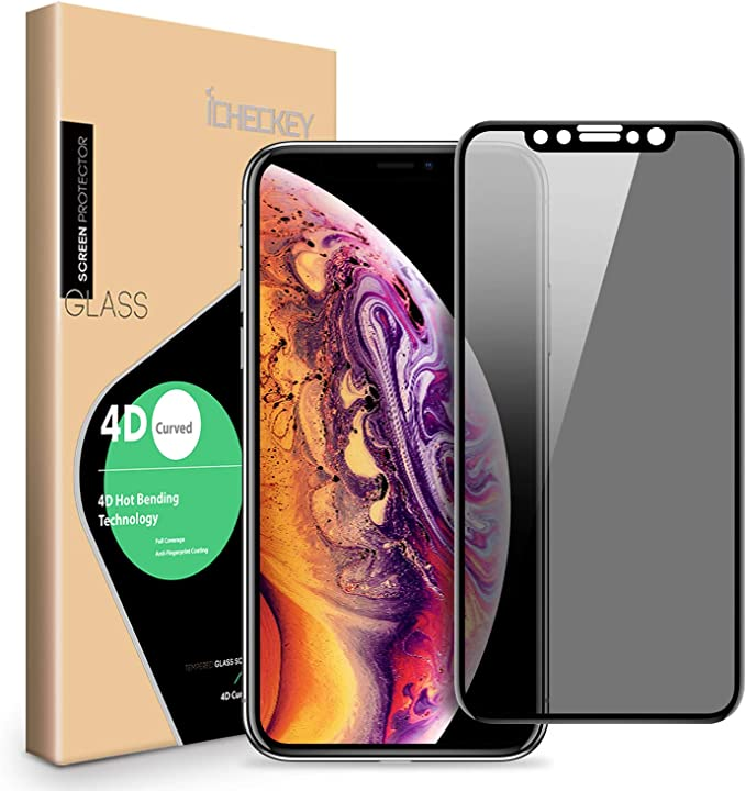 4 Pack Bear Village HD Tempered Glass Screen Protector Screen Protector for iPhone Xs Max Bubble Free Anti Scratch Screen Protector Film for iPhone Xs Max