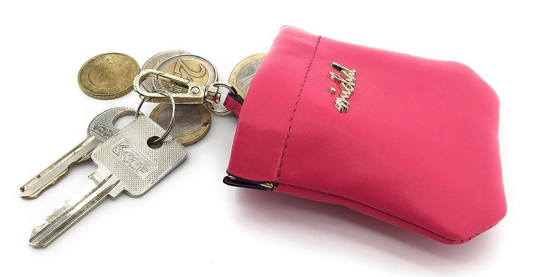 Amazon.com: Funda de piel italiana para llaves, monedas ...