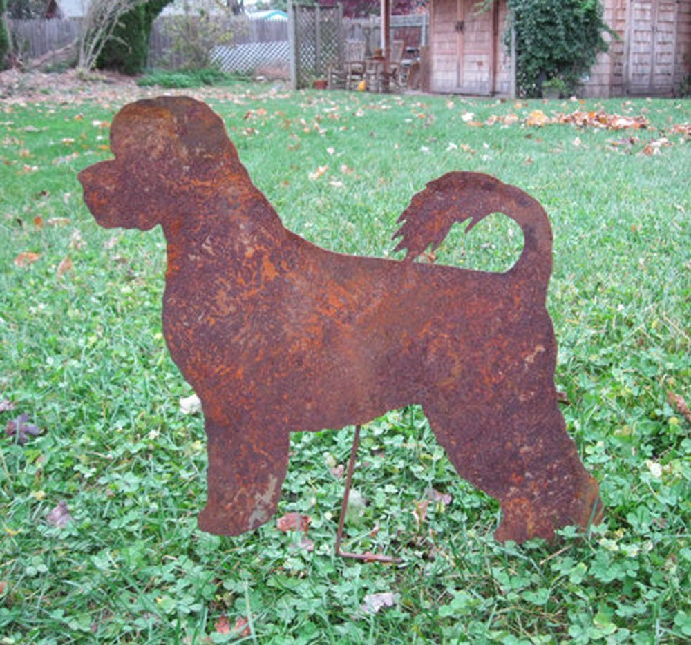 Portuguese Water Dog Garden Stake or Wall Hanging