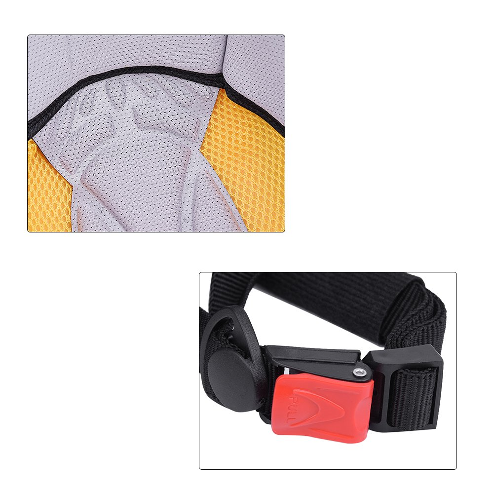 Keenso Motorradhelm Open Face halbes Cap Safety Protect Helm mit Kopfband Schwarz