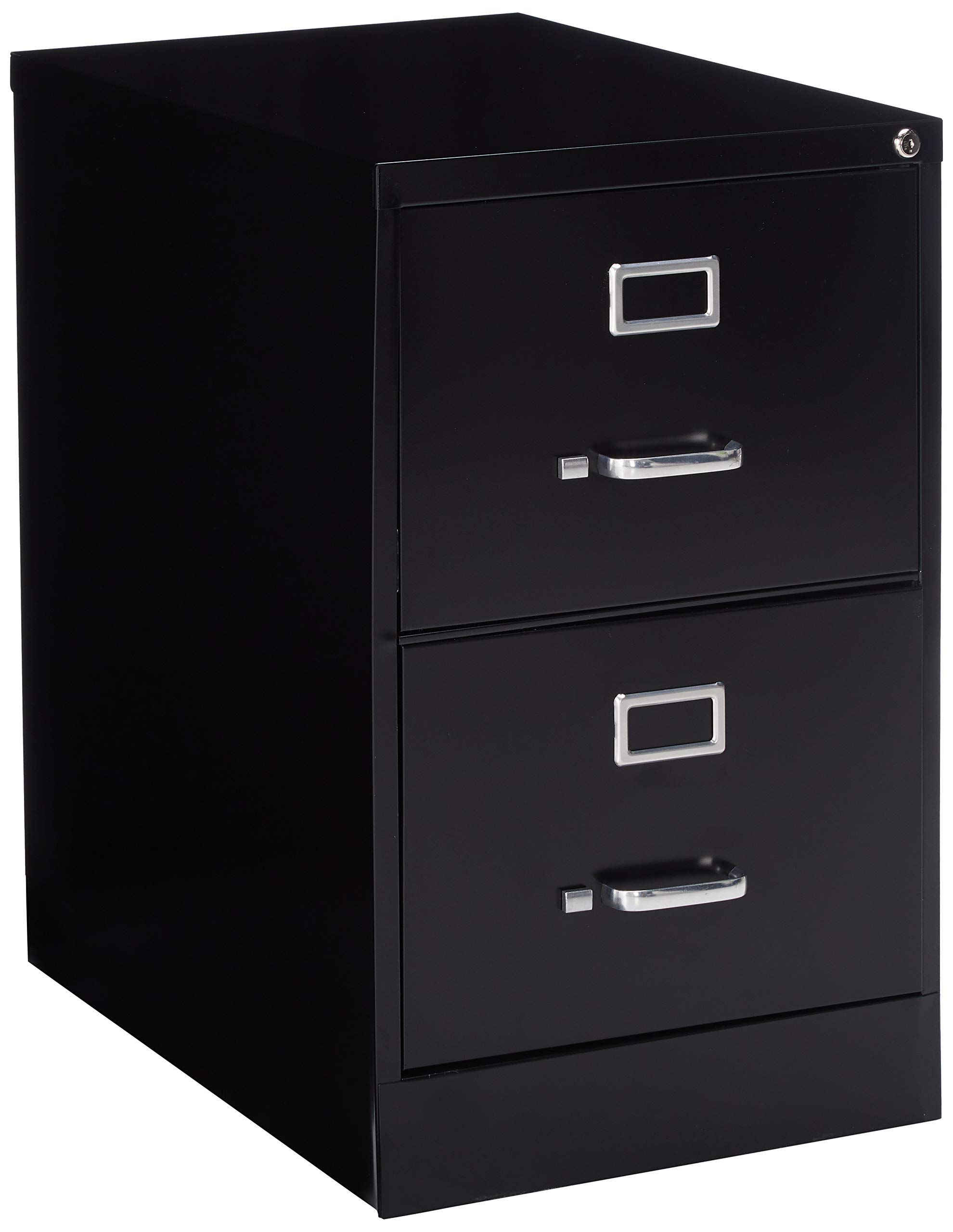 Lorell 2-Drawer Vertical File, Legal, 18 by 26-1/2 by 28-3/8-Inch, Black by Lorell
