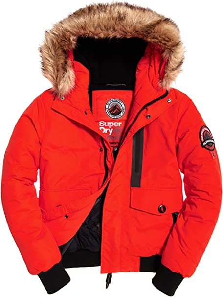 Superdry Jacke Herren Everest Bomber Bold Orange