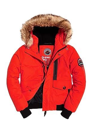 detailed look 9a5d6 58b4b Superdry Jacke Herren Everest Bomber Bold Orange: Amazon.de ...