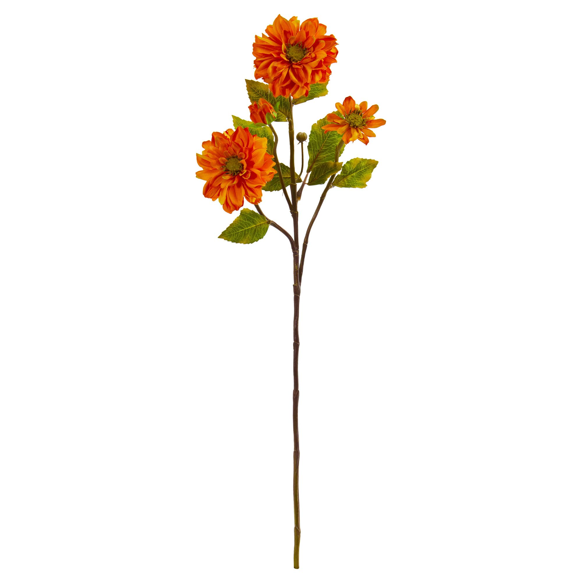 Nearly-Natural-2249-S6-OR-30-in-Zinnia-Artificial-Set-of-6-Silk-Flowers-Orange