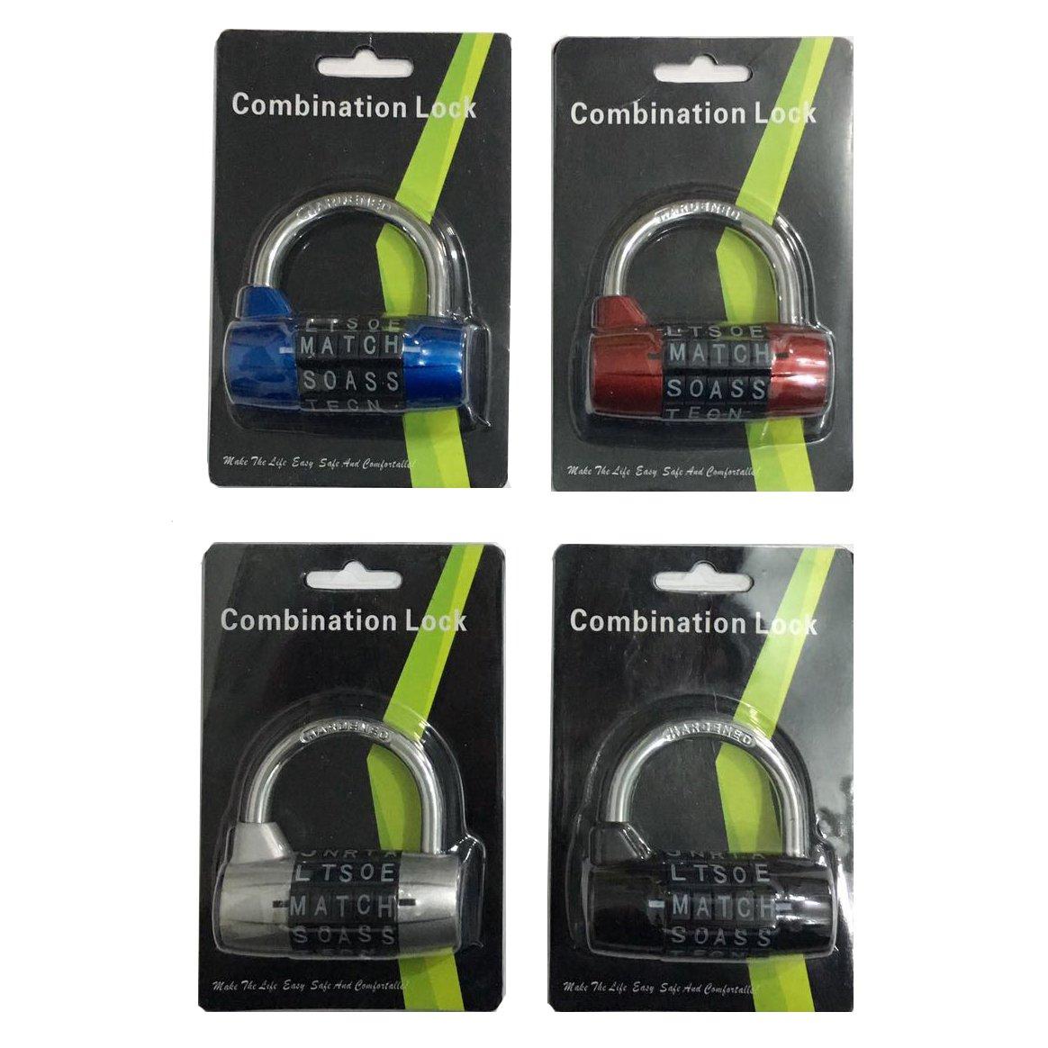 5 Letters Lock Code Lock Large Gym Cabinet Locker Room Prop Padlock Wordlock PL-004-BK 5-Dial Combination Padlock Black