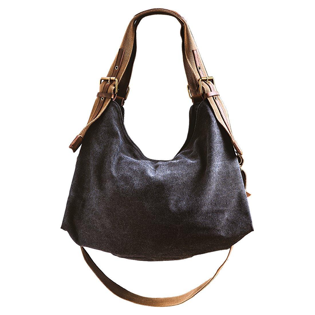 Buy DelleVEGA Women Canvas Shoulder Bag Ladies Casual Handbags Daily Purse  Top Handle Tote Shopper Handbag Online at Low Prices in India - Amazon.in 5357aeb0876a0