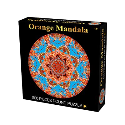 Jigsaw Puzzle Round 500Pieces for Adults and Kids Puzzle Toy Educational Jigsaw Puzzle Decompression Toys - Mandala Windmill: ChicSoleil: Toys & Games