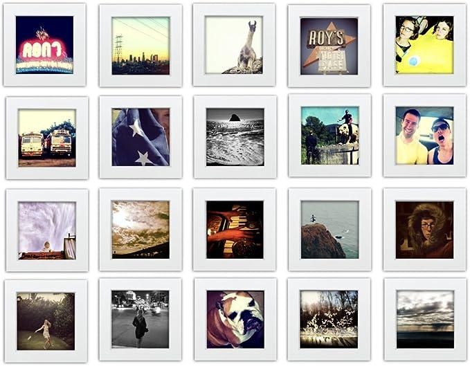 Teak Effect 14x14 Square Multi Aperture Picture Photo Frame  5x5 Photos