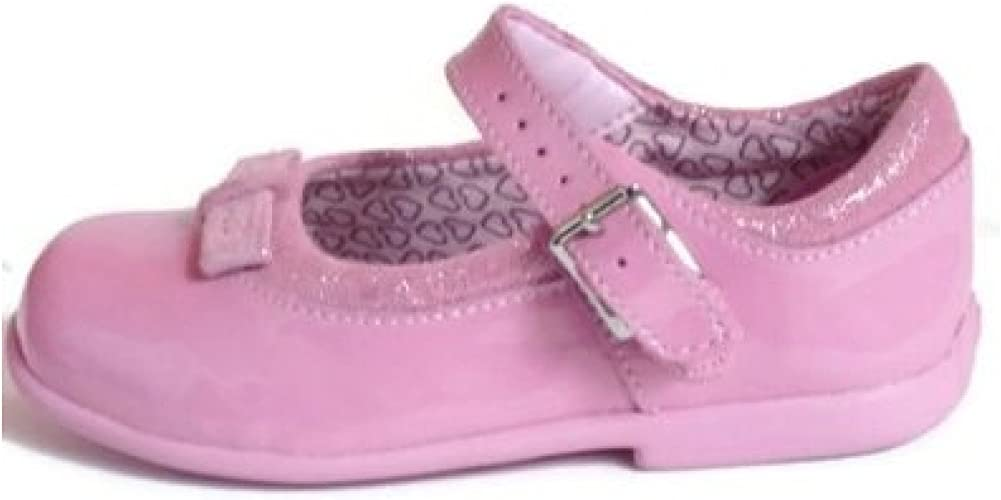 NEW CLARKS FIRST SHOES GIRLS POLLY POSY PURPLE PATENT LEATHER SHOES