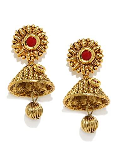 jhumkas designs beaded traditional lar earrings price gold jhumka leena buy jewellery