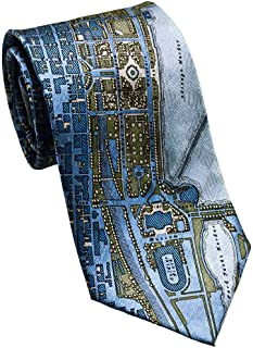 product image for Josh Bach Men's CIVITAS Map of Chicago Silk Necktie, Made in USA