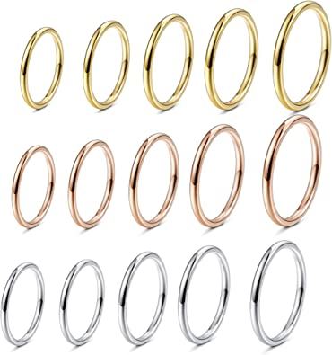 1.2mm 925 Sterling Silver Stackable Thin Knuckle Midi Stacking Wedding Bands Ring Women Girls Size 4-8