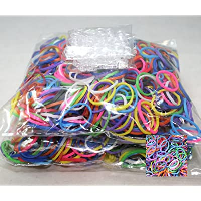 Bluedot Trading 1200 Piece Multi-Color Rubber Band and S-Clips Loom Art and Craft Kids Rainbow Bracelet Refill Pack: Toys & Games