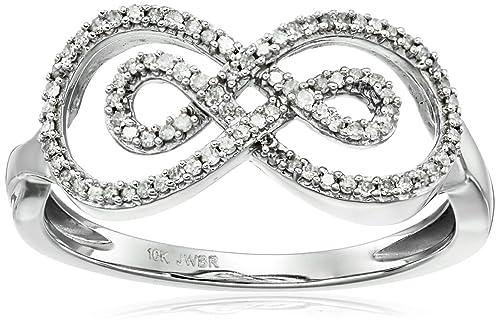 10k White Gold Round Diamond Ring (1/10cttw, I-J Color, I2-I3 Clarity)