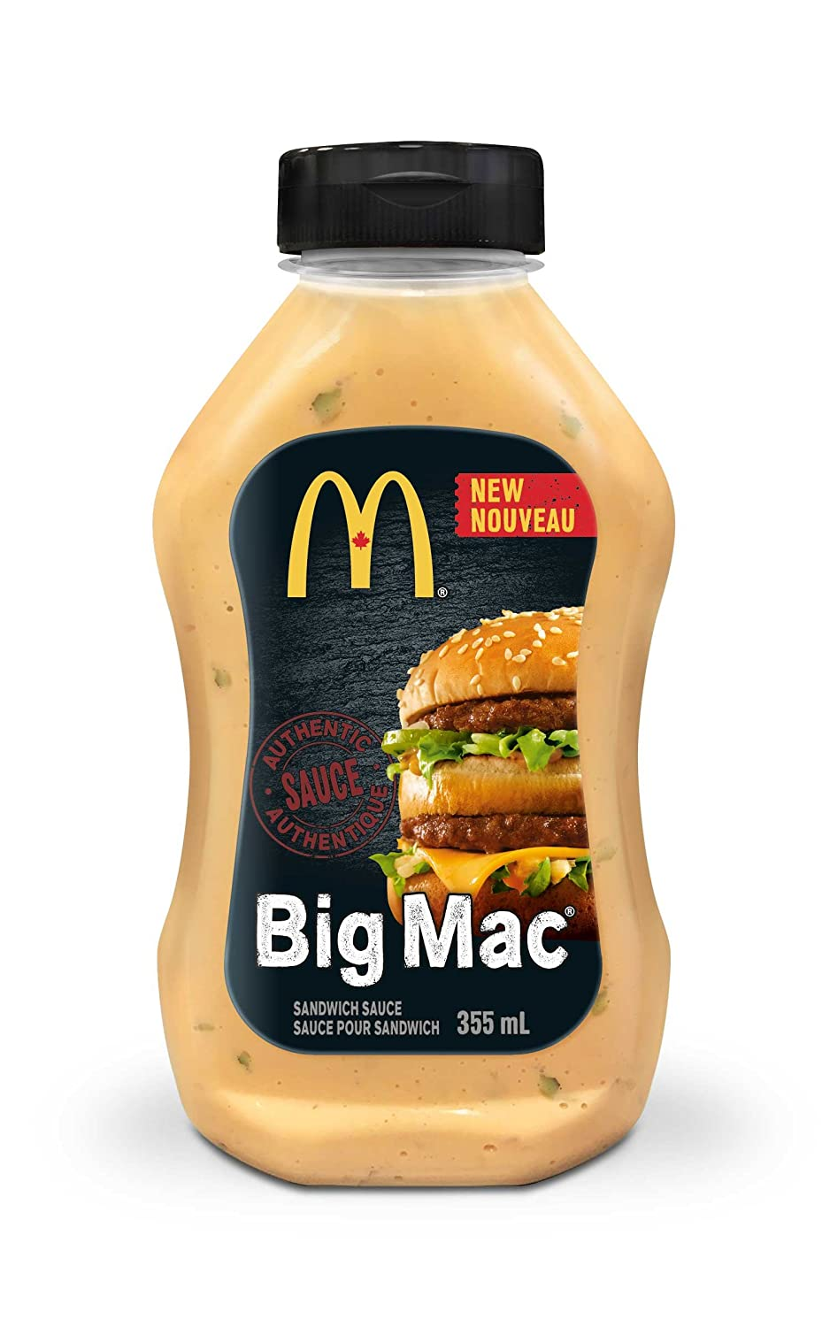 MCDONALD'S Big Mac Sauce, 1 Count, 355ml/12.00 Ounces {Imported from Canada}