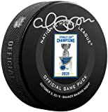 Carl Gunnarsson St. Louis Blues Autographed October 2, 2019 Stanley Cup Championship Banner Raising Official Game Puck - Fanatics Authentic Certified