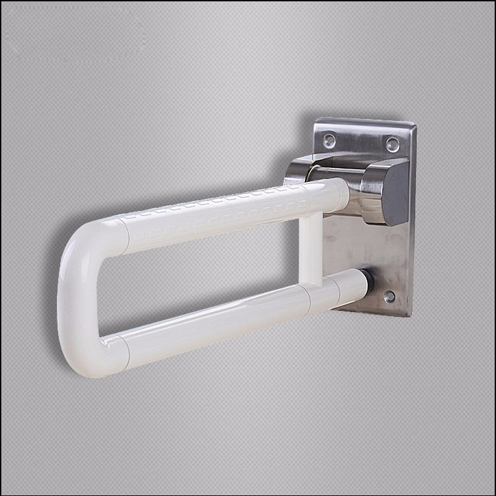 MDRW-Safety Handrail Bathrooms Plastic Handrails Old People Disabled Bathroom Toilet Supplies Can Turn Over The Handrail