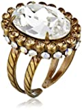 "Sorrelli  ""Neutral Territory"" Glamorous Oval-Cut Crystal Ring"