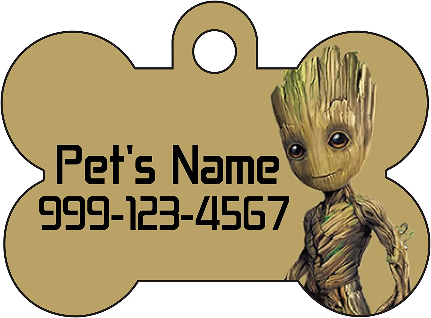 Galaxy Design Personalized Dog ID Pet Tag Custom Pet Tag You Choose Tag Size /& Colors