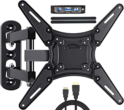 Fozimoa Full Motion Tv Wall Mount For Most 26 55 Inch Tvs With Swivels Tilts Extends Tv Bracket Vesa 400x400 Fits Led Lcd Oled 4k Tvs Up To 66 Lbs Fits