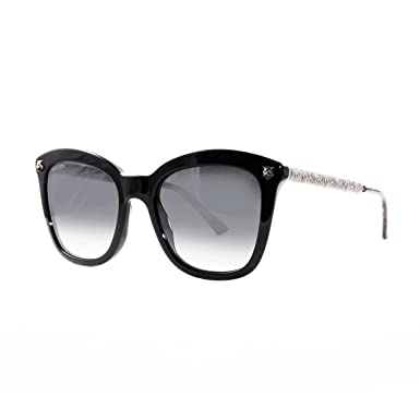 a0e6a77e91749 Amazon.com  Gucci GG 0217 S- 001 BLACK   GREY GOLD Sunglasses  Clothing
