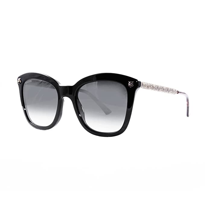 Amazon.com: anteojos de sol Gucci GG 0217 S- 001 negro/gris ...