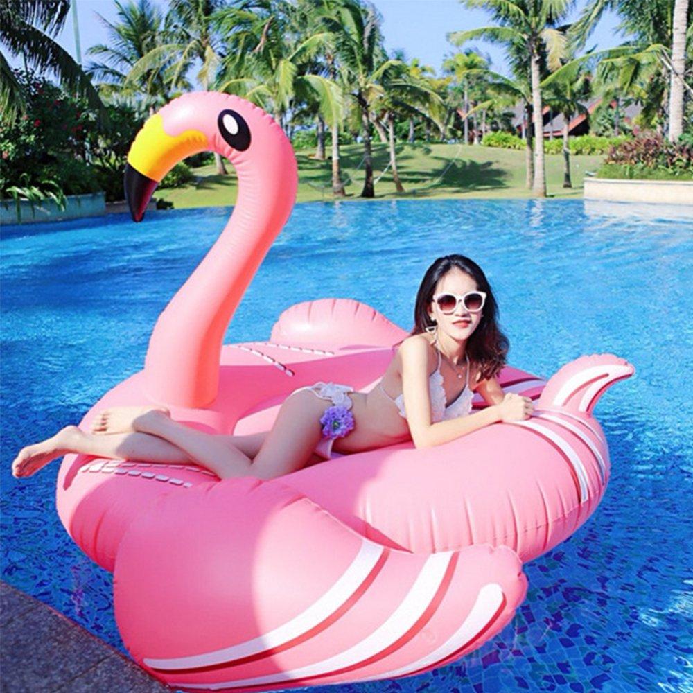 FAFY Piscina Inflable Flamenco Fila Flotante Adultos Colchones De Natación Aire Nadar Anillo