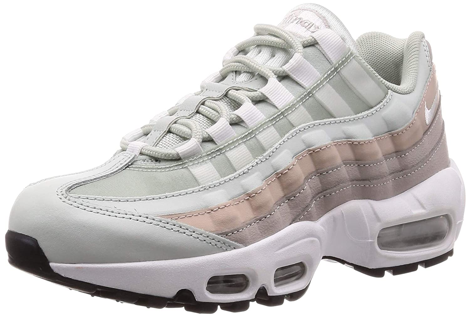 reputable site 45047 30d64 Nike Women's Air Max 95 Light Silver/Wht Running Shoe 8 Women US