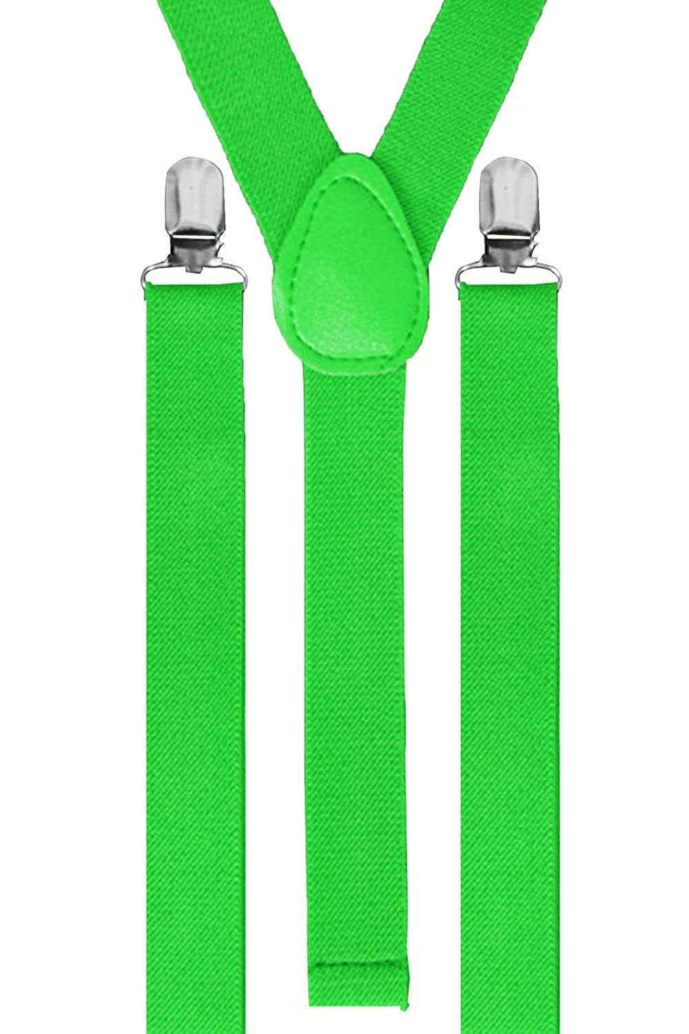 Unisex Adjustable Braces Adults Slim Suspenders Neon Clip On Trouser Fancy Dress