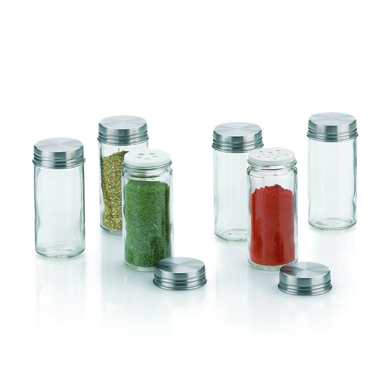 kela 10859 - Contenitori per spezie in vetro Fidelis, 6 pezzi