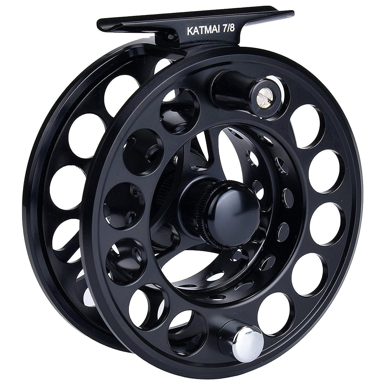 KastKing Katmai carrete impermeable de la pesca de la mosca, engranaje grande de la pesca de la mosca del cenador, fricción sellada, aluminio forjado (Black ...