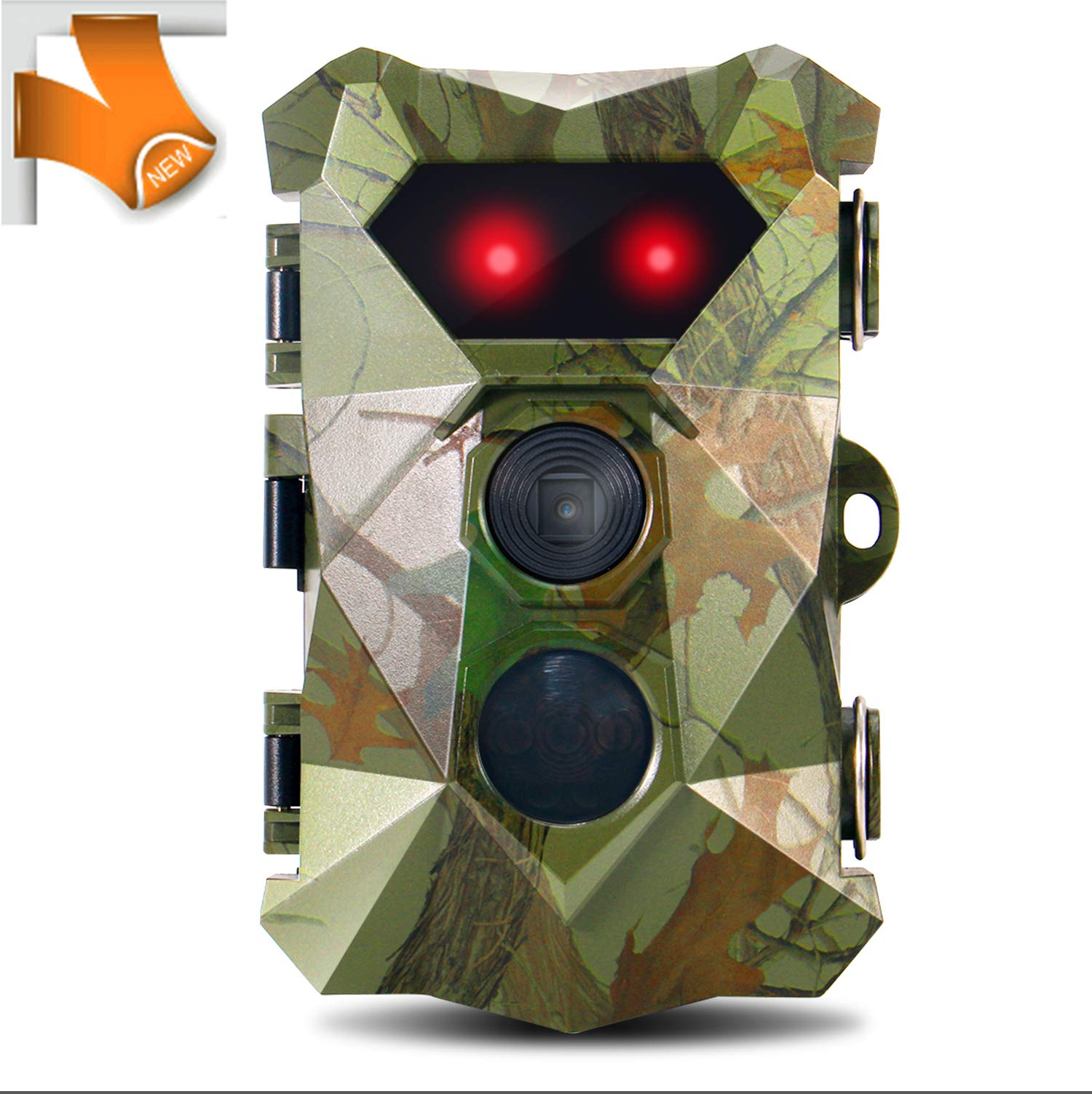 """Trail Hunting Camera 16MP 1080P, Super Power IR LEDs Night Vision up to 82ft Trail Cams, 0.2s Fast Trigger Motion Activated Hunting Cam with Waterproof 2.4"""" LCD Screen Wildlife Outdoor Game Monitor"""