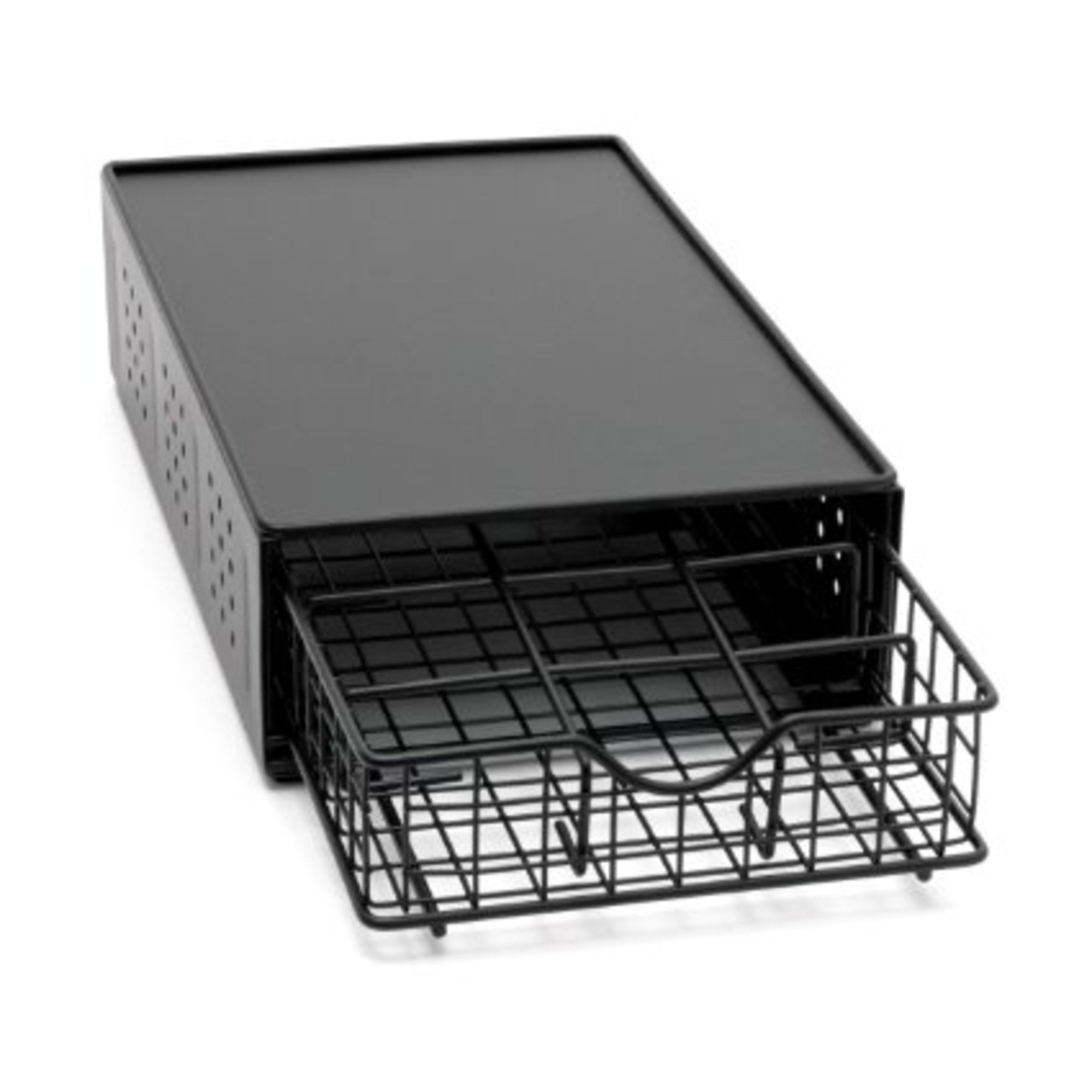 Lipper International 1-Tier Coffee Drawer Stand, Black